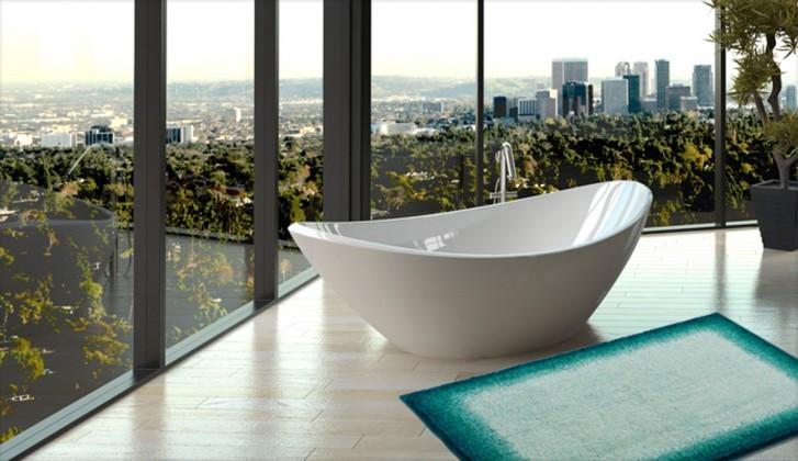 Avalon - Koupelnová předložka 60x100 cm (tyrkysová-černá)