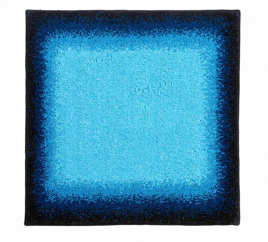 Avalon - Koupelnová předložka malá 50x60 cm (ledově modrá-černá)