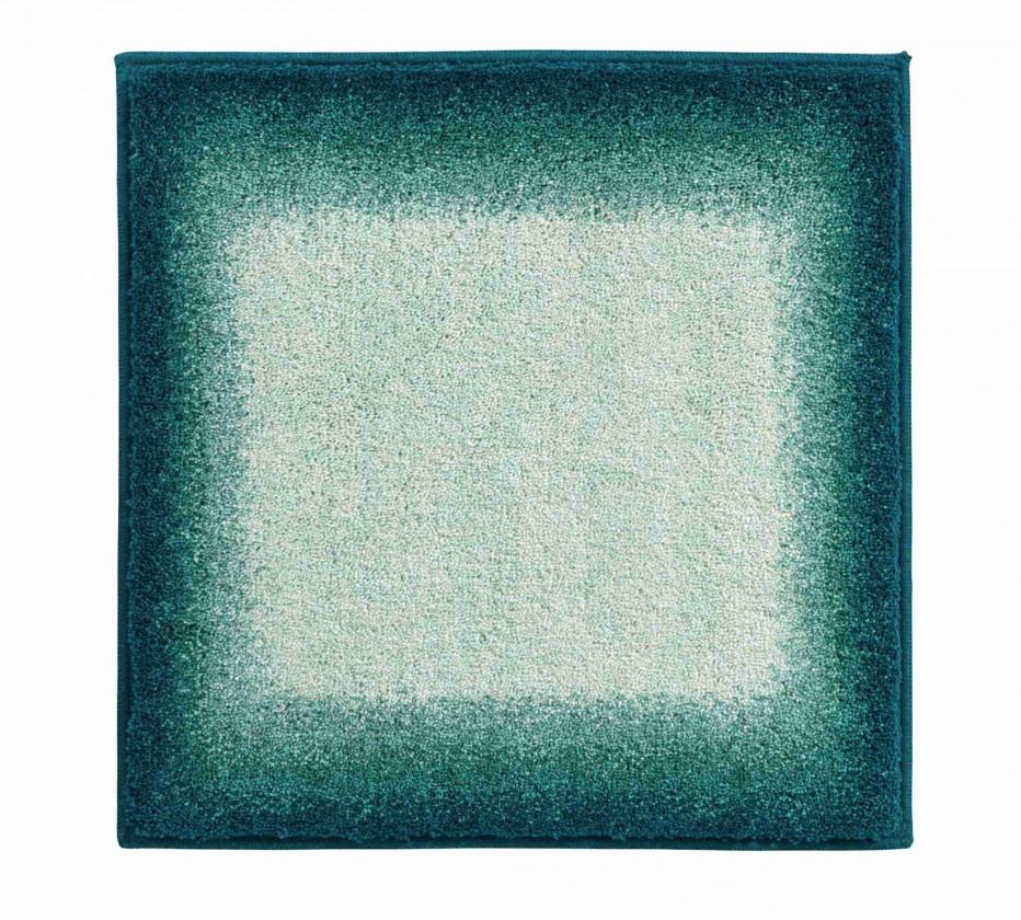 Avalon - Koupelnová předložka malá 50x60 cm (tyrkysová-černá)