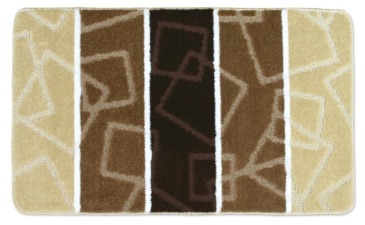 Avangard - Koupelnová předložka 60x100 (hnědé čtverce)