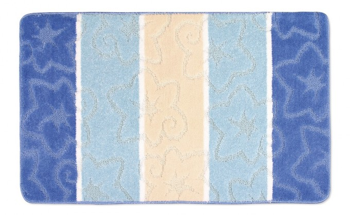 Avangard - Koupelnová předložka 60x100 (modrý orion)