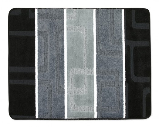 Avangard - Koupelnová předložka 60x50 (černošedé obdélníky)