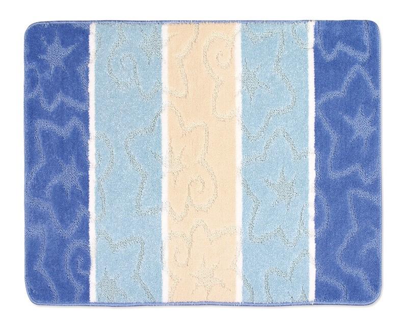 Avangard - Koupelnová předložka 60x50 (modrý orion)