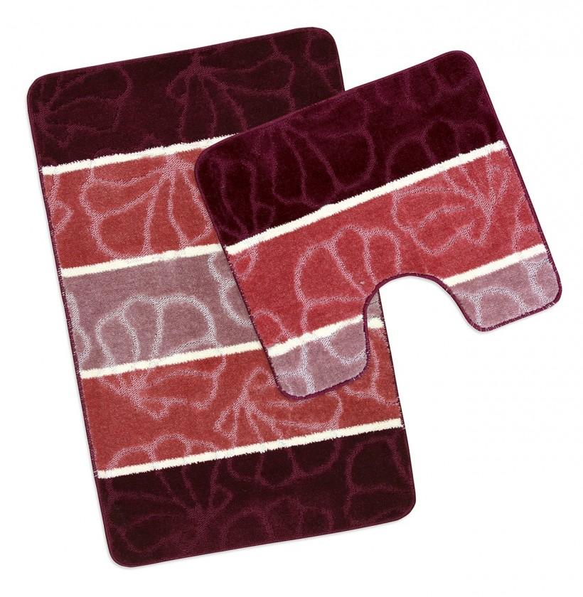 Avangard - Koupelnová sada 50x80 + 50x40 (vínové mušle)