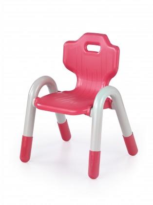 Bambi - Dětské plastové křesílko (bílá/červená)