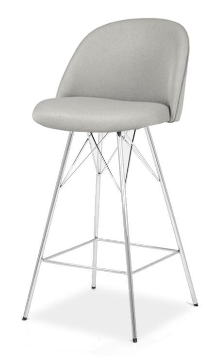 Barová židle ALLY 9368-207+PORGY BAR 9340-091 (sv.šedá,chrom)