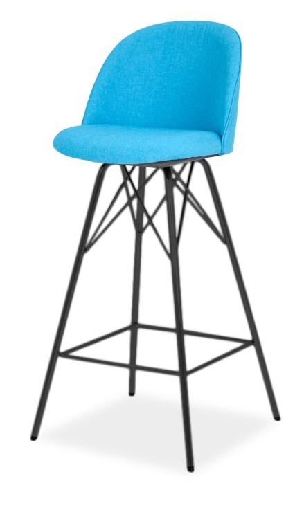 Barová židle ALLY 9368-220+PORGY BAR 9340-824 (tyrkys,černá)