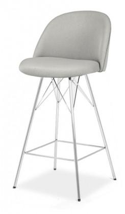 Barová židle Barová židle ALLY 9368-207+PORGY BAR 9340-091 (sv.šedá/chrom)