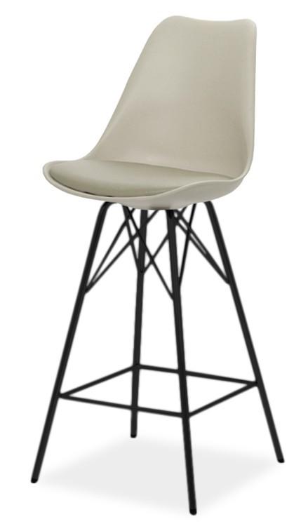 Barová židle Barová židle GINA 9361-883+PORGY BAR 9340-824 (béžová/černá)