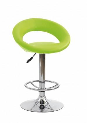 Barová židle Barová židle H-15 (eco kůže limetová/chrom)