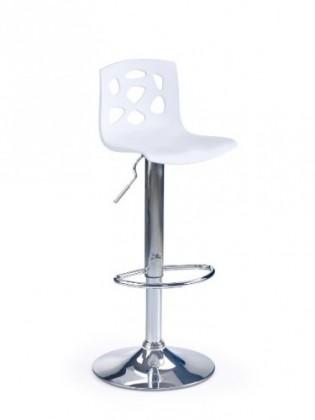 Barová židle Barová židle H-48 (bílá/chrom)