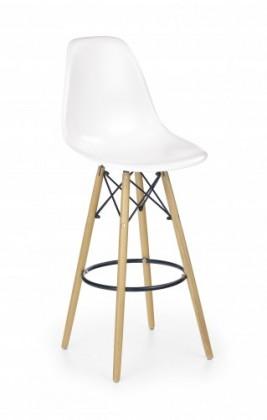 Barová židle barová židle h-51 (masivní dřevo/bílá)