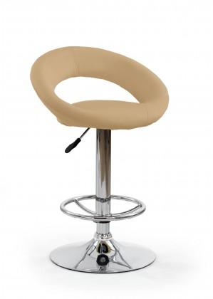 Barová židle Barová židle H15 (béžová/stříbrná)