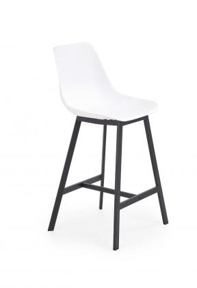 Barová židle Barová židle Isa (plast, kov, bílá)