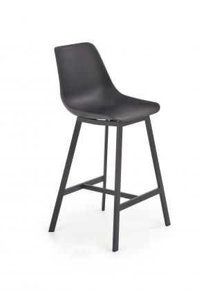 Barová židle Barová židle Isa (plast, kov, černá)