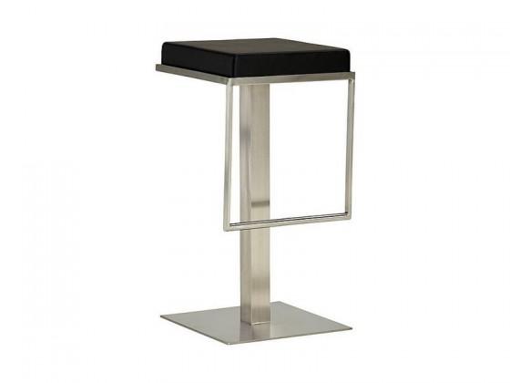 Barová židle Chill 4 - Barová židle (nerez, eko kůže černá)