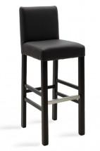 Barová židle Dasha wenge, šedá