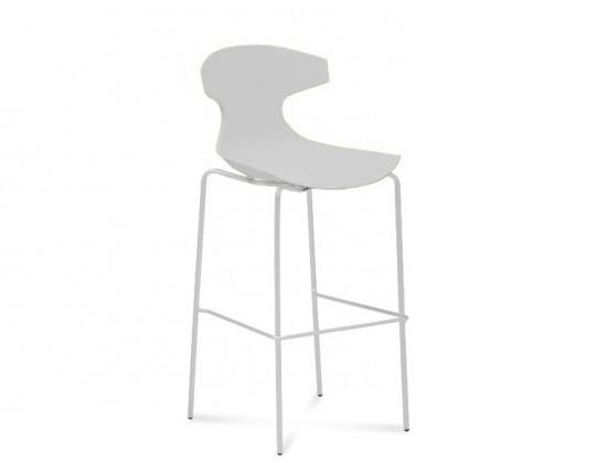 Barová židle Echo-Sgb - Barová židle (bílý lak, bílá)
