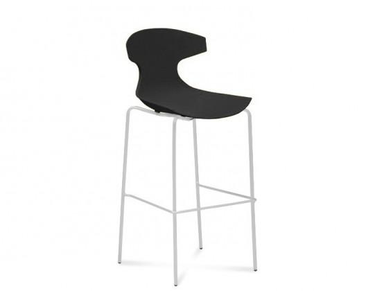 Barová židle Echo-Sgb - Barová židle (bílý lak, černá)