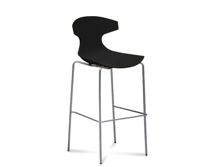 Barová židle Echo-Sgb - Barová židle (chrom, černá)