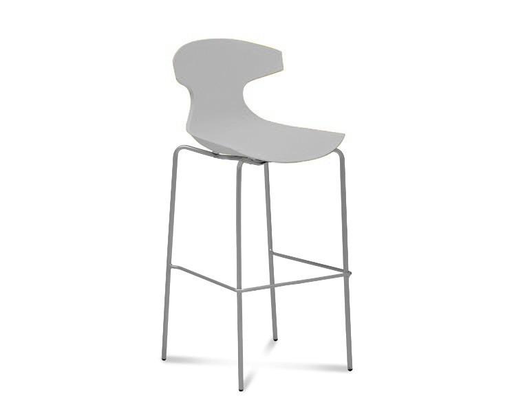 Barová židle Echo-Sgb - Barová židle (hliník, bílá)