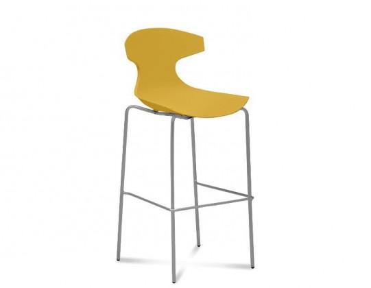 Barová židle Echo-Sgb - Barová židle (hliník, hořčicová)