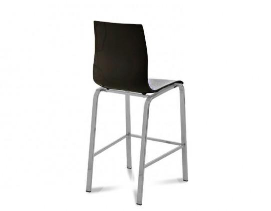 Barová židle Gel-R-Sgb - Barová židle (hliník, černá )