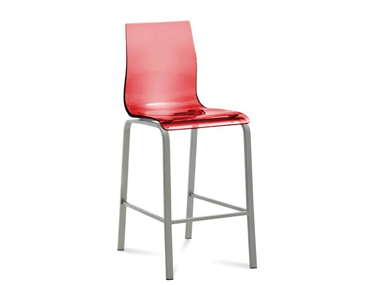 Barová židle Gel-R-Sgb - Barová židle (hliník, červená)