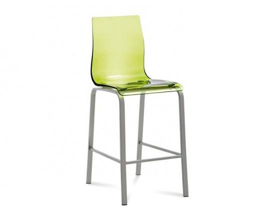 Barová židle Gel-R-Sgb - Barová židle (hliník, zelená)