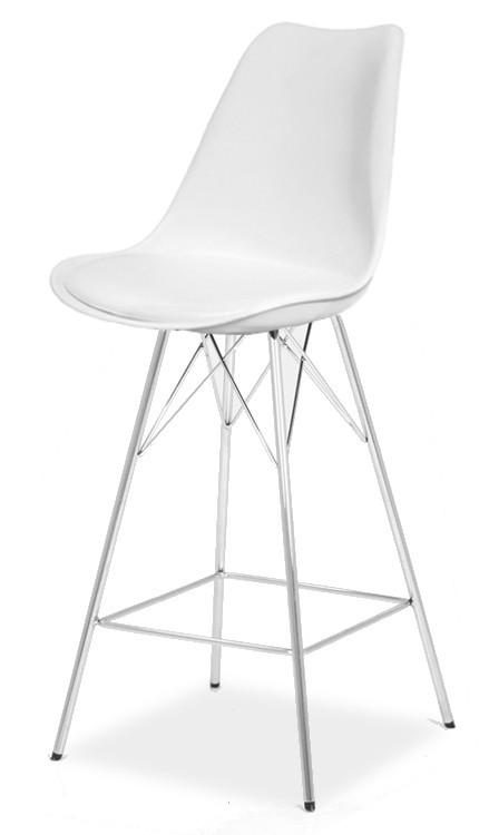 Barová židle GINA 9361-801+PORGY BAR 9340-091 (bílá,chrom)