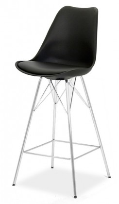 Barová židle GINA 9361-824+PORGY BAR 9340-091 (černá,chrom)