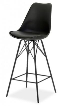 Barová židle GINA 9361-824+PORGY BAR 9340-824 (černá)