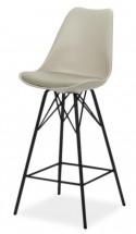 Barová židle GINA 9361-883+PORGY BAR 9340-824 (béžová/černá)