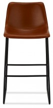 Barová židle Guaro hnědá, černá