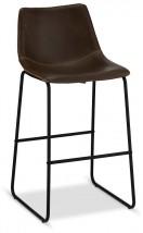 Barová židle Guaro tmavě hnědá, černá