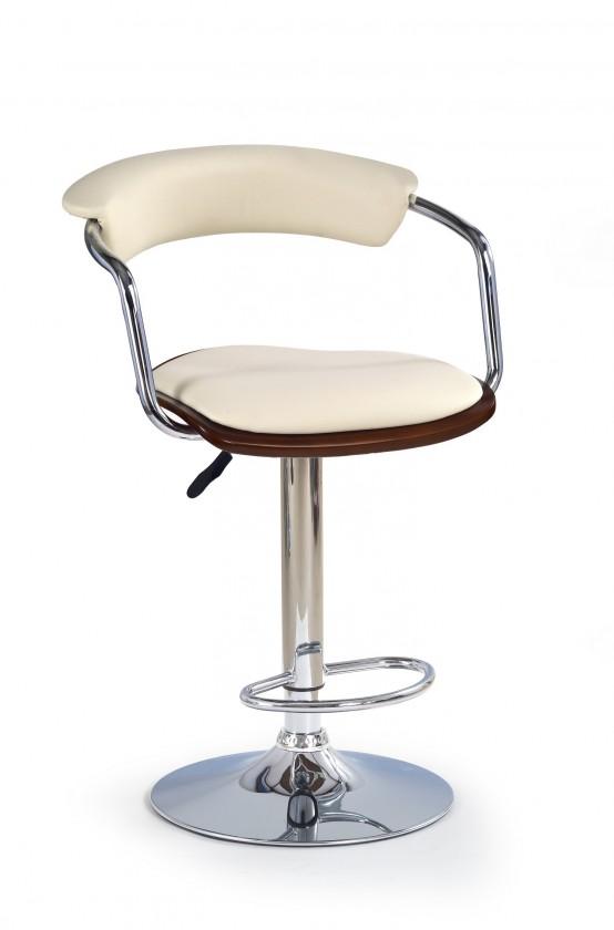Barová židle H-19 (třešeň antik,eco kůže béžová,chrom)