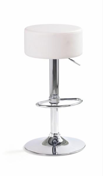 Barová židle H-23 (eco kůže bílá,chrom)