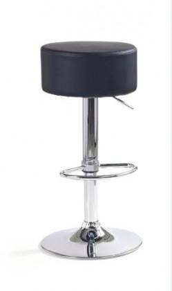 Barová židle H-23 (eco kůže černá,chrom)