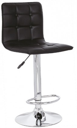 Barová židle H-29 (eco kůže černá,chrom)