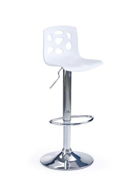 Barová židle H-48 (bílá,chrom)