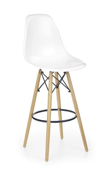 Barová židle H-51 (olše,bílá)