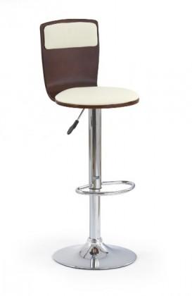 Barová židle H-7 (třešeň antik,eco kůže béžová,chrom)