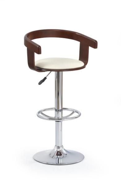 Barová židle H-8 (třešeň antik,eco kůže béžová,chrom)