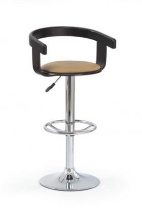 Barová židle H-8 (třešeň antik,eco kůže coffee,chrom)