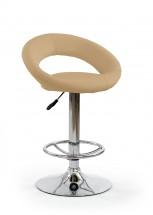 Barová židle H15 (béžová/stříbrná)