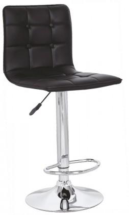 Barová židle H29 - Barová židle (černá, stříbrná)