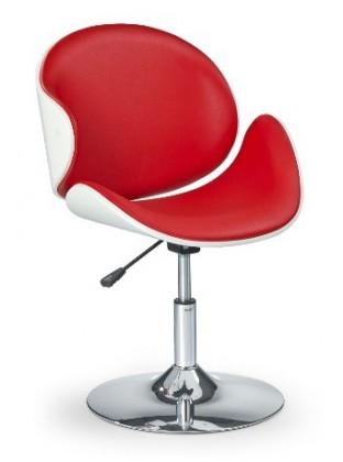 Barová židle H42 (bílo-červená)