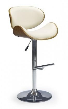 Barová židle H44 - Barová židle, ořech-krémová