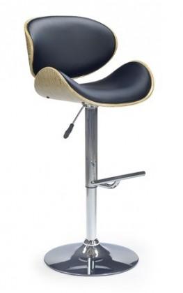 Barová židle H44 (dub-černá)