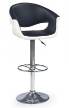 Barová židle H46 (bílá/černá)